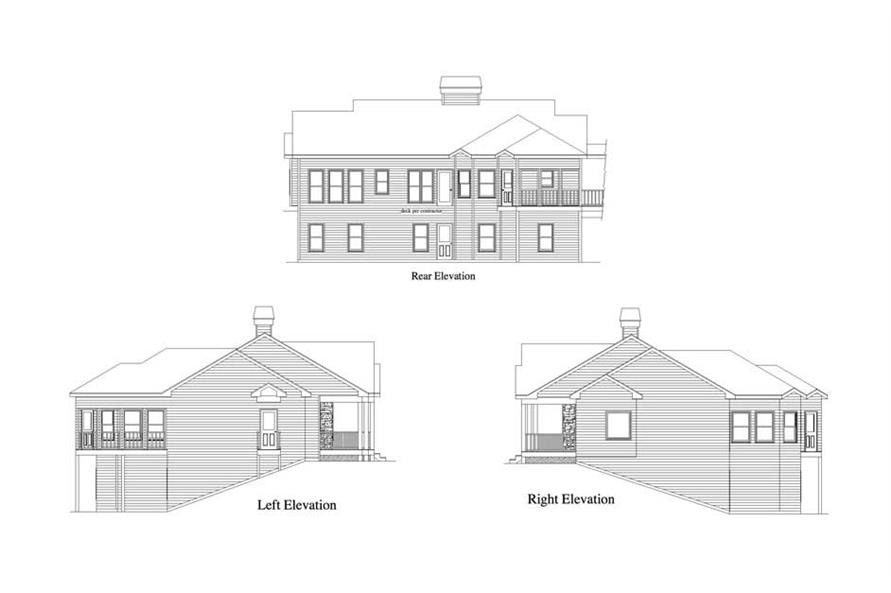 Home Plan Right Elevation of this 2-Bedroom,1522 Sq Ft Plan -163-1025
