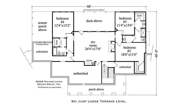 Country House Plan 4 Bedrms 35 Baths 4002 Sq Ft 163 1026