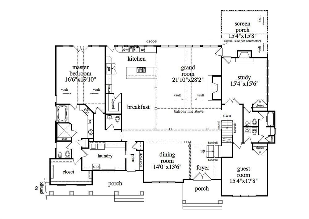 Large images for house plan 163 1027 for One story with basement house plans
