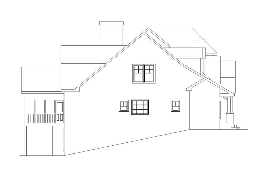 Home Plan Left Elevation of this 4-Bedroom,6765 Sq Ft Plan -163-1027