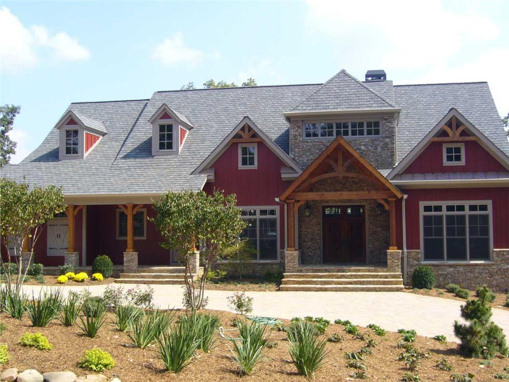 This is a color photo for these Craftsman House Plans.