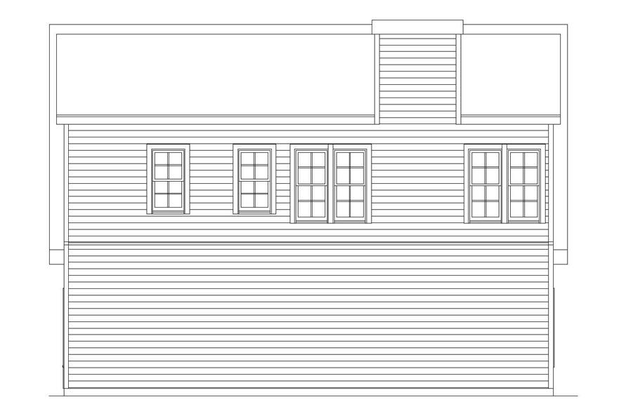 Home Plan Rear Elevation of this 4-Bedroom,6765 Sq Ft Plan -163-1027