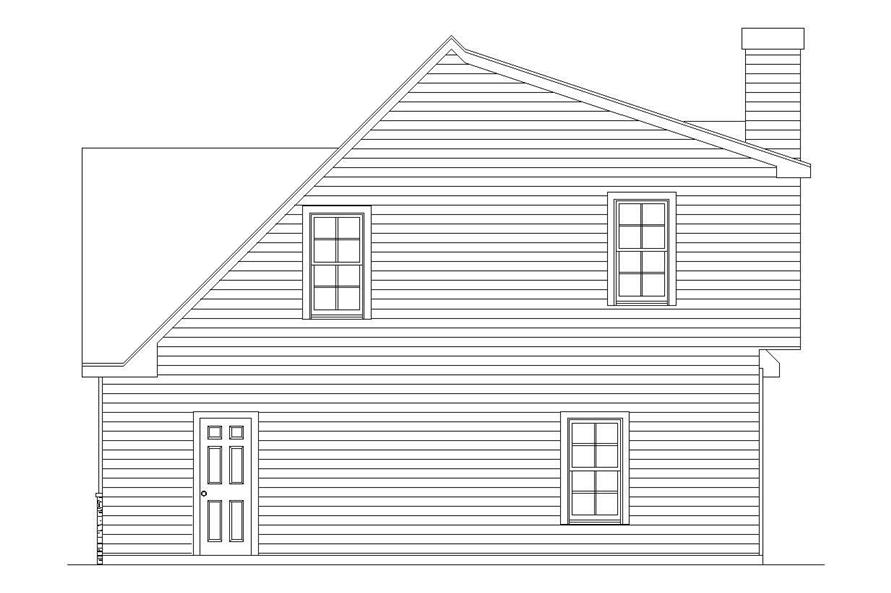 Home Plan Right Elevation of this 4-Bedroom,6765 Sq Ft Plan -163-1027