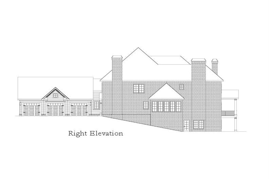 Home Plan Right Elevation of this 5-Bedroom,6261 Sq Ft Plan -163-1028