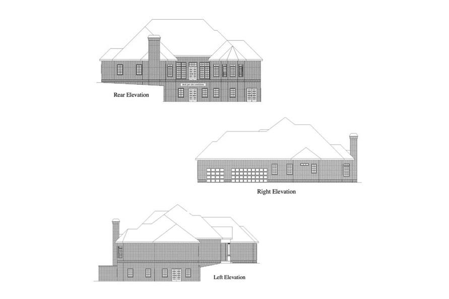 Home Plan Rendering of this 4-Bedroom,3120 Sq Ft Plan -3120