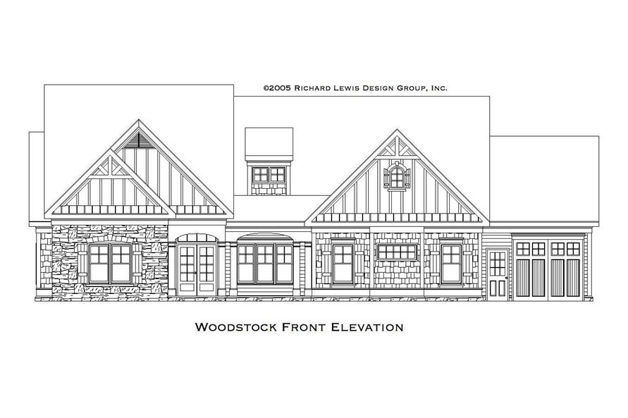 Home Plan Front Elevation of this 2-Bedroom,3853 Sq Ft Plan -163-1031