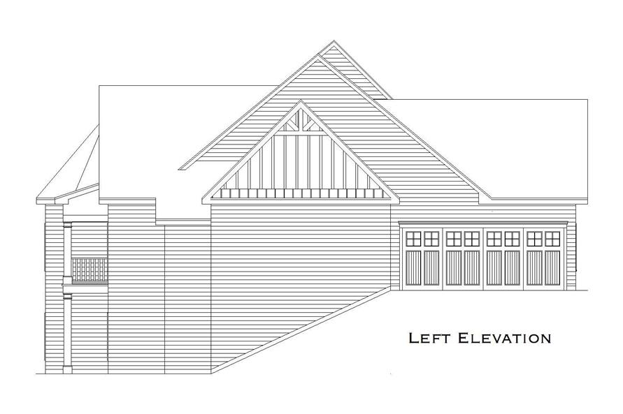 Home Plan Left Elevation of this 2-Bedroom,3853 Sq Ft Plan -163-1031
