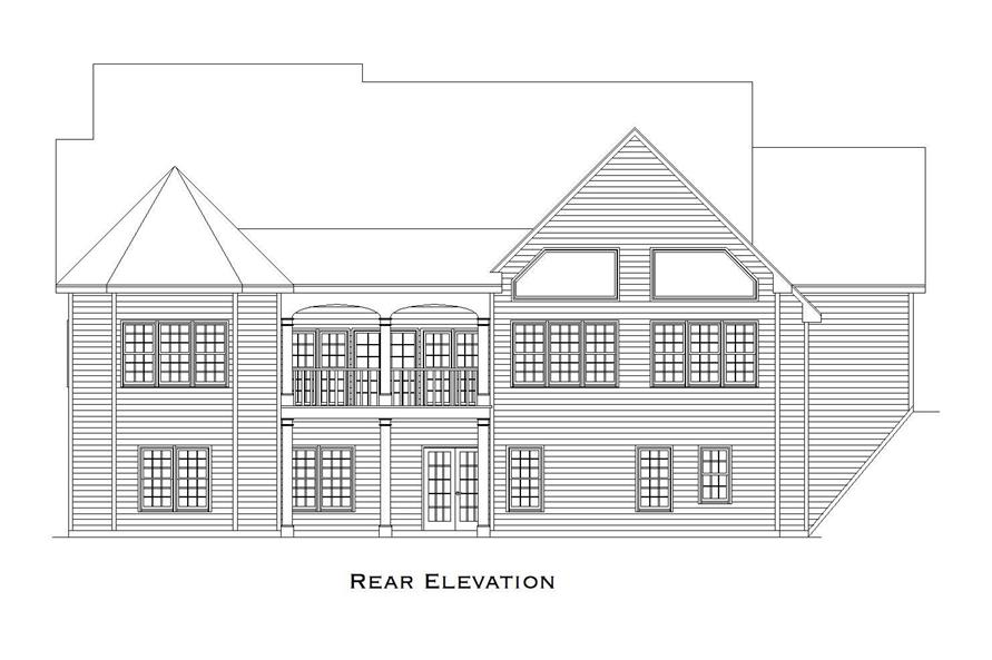 Home Plan Rear Elevation of this 2-Bedroom,3853 Sq Ft Plan -163-1031