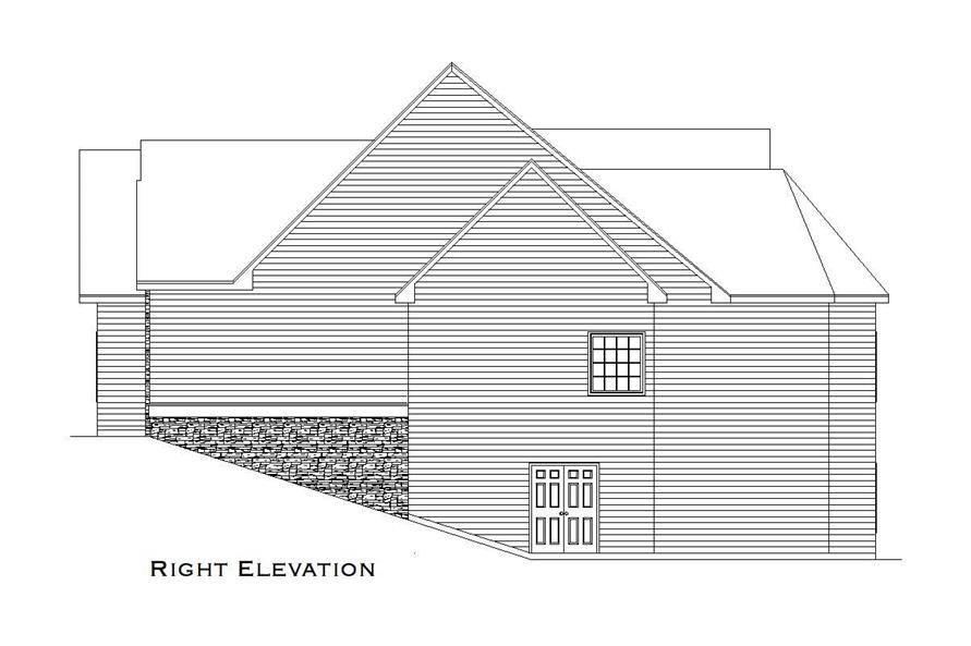 Home Plan Right Elevation of this 2-Bedroom,3853 Sq Ft Plan -163-1031