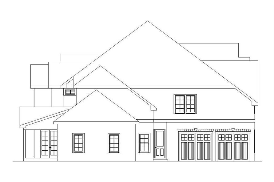 Home Plan Left Elevation of this 5-Bedroom,4636 Sq Ft Plan -163-1034