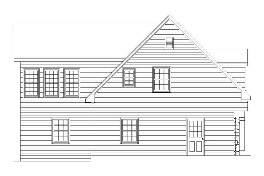 Home Plan Left Elevation of this 2-Bedroom,1208 Sq Ft Plan -163-1036