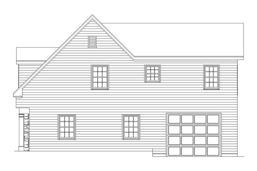 Home Plan Right Elevation of this 2-Bedroom,1208 Sq Ft Plan -163-1036