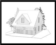 Here's the front elevation for these Garage Plans.