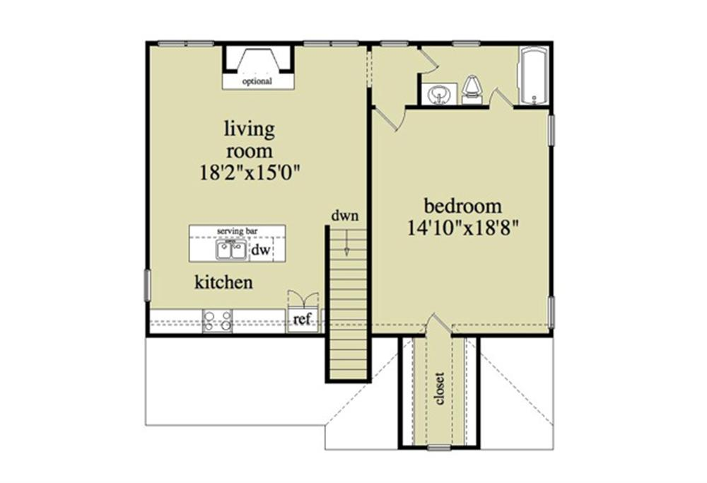 163-1041: Floor Plan Upper Level