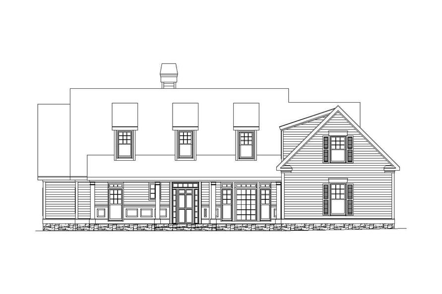 Home Plan Front Elevation of this 3-Bedroom,2831 Sq Ft Plan -163-1043