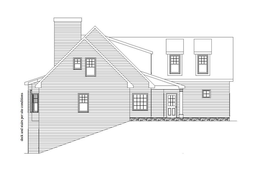 Home Plan Left Elevation of this 3-Bedroom,2831 Sq Ft Plan -163-1043
