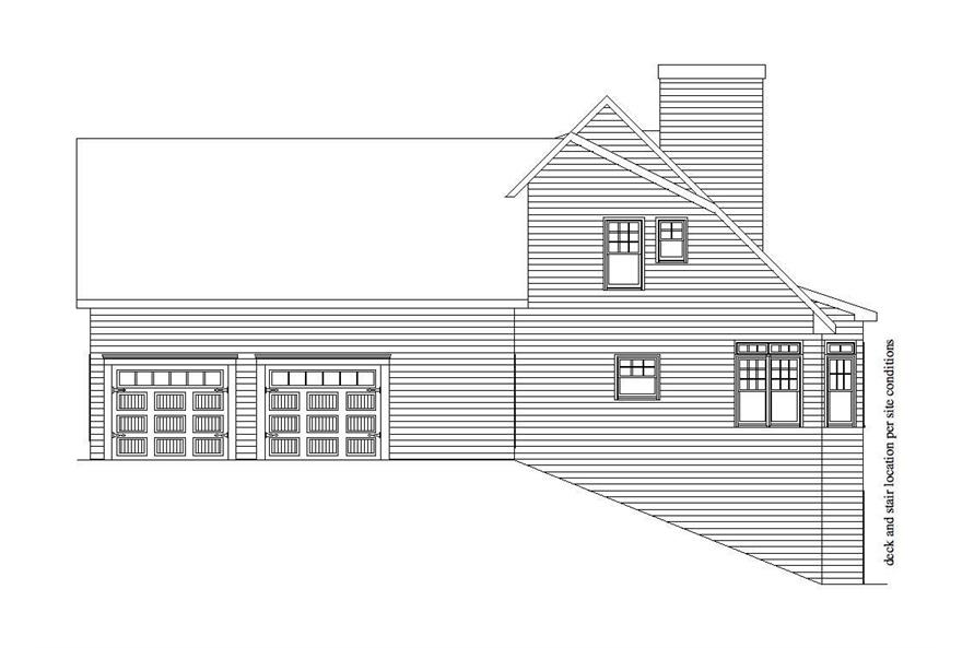Home Plan Right Elevation of this 3-Bedroom,2831 Sq Ft Plan -163-1043