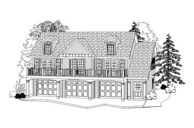 2-Bedroom, 1035 Sq Ft Garage Home Plan - 163-1045 - Main Exterior