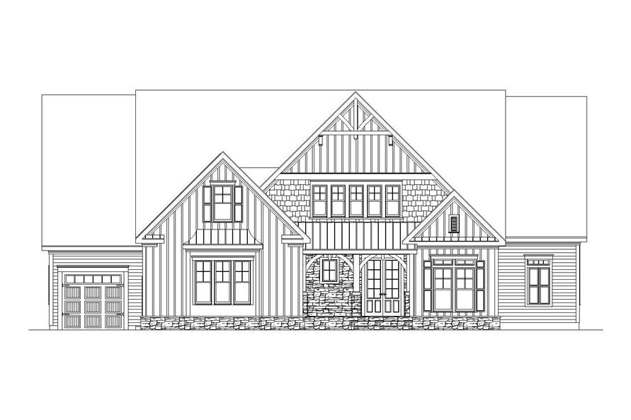 Home Plan Front Elevation of this 6-Bedroom,5628 Sq Ft Plan -163-1047