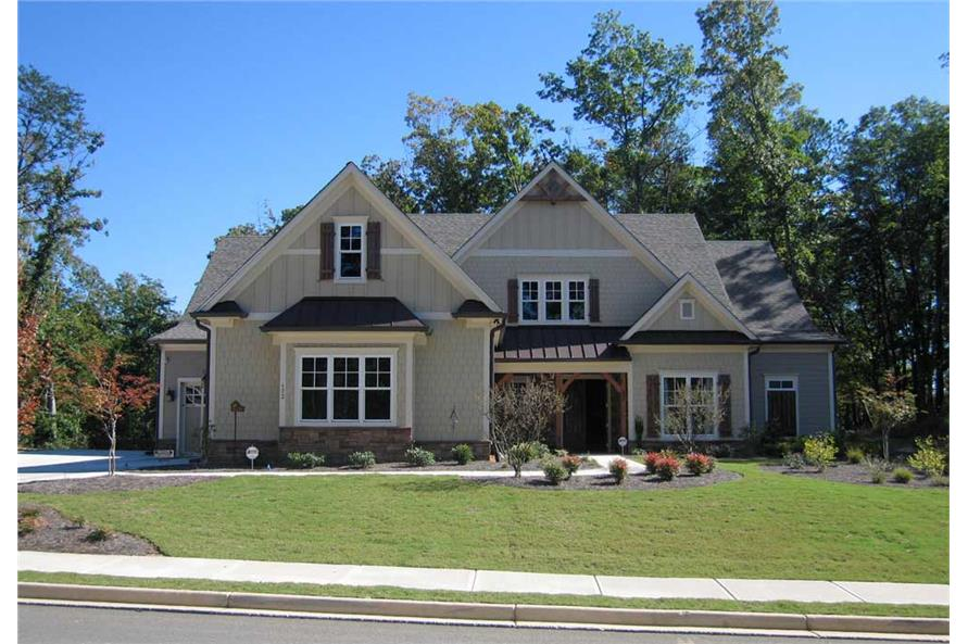 6-Bedroom, 5628 Sq Ft Country Home Plan - 163-1047 - Main Exterior
