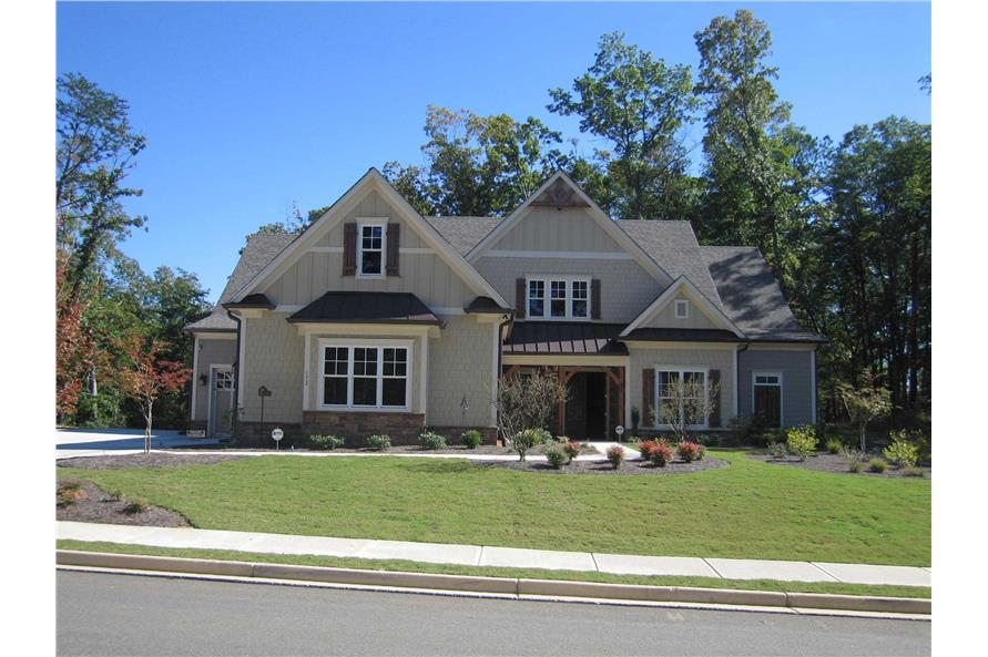Home Exterior Photograph of this 6-Bedroom,5628 Sq Ft Plan -163-1047