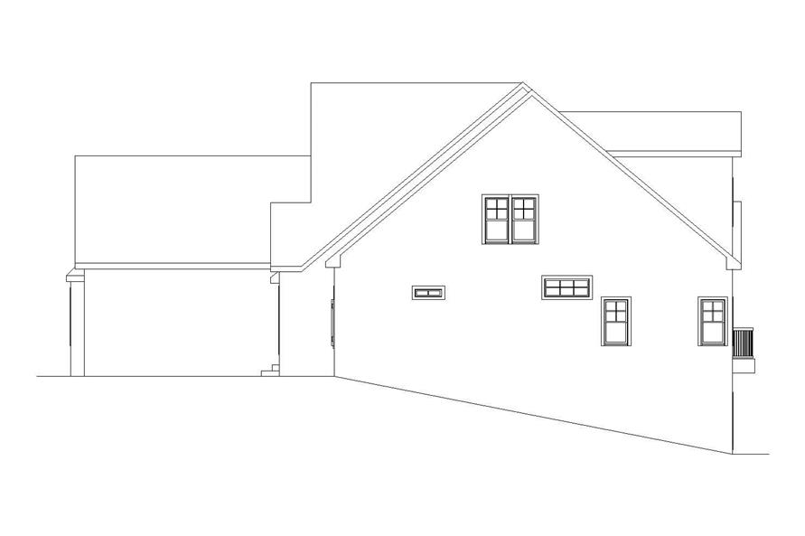 Home Plan Right Elevation of this 6-Bedroom,5628 Sq Ft Plan -163-1047