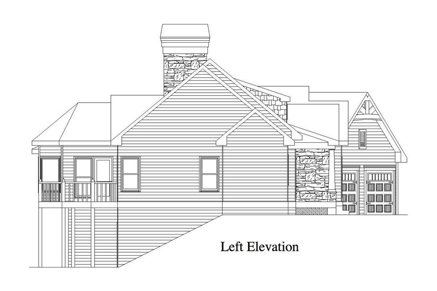 Home Plan Left Elevation of this 4-Bedroom,3231 Sq Ft Plan -163-1048