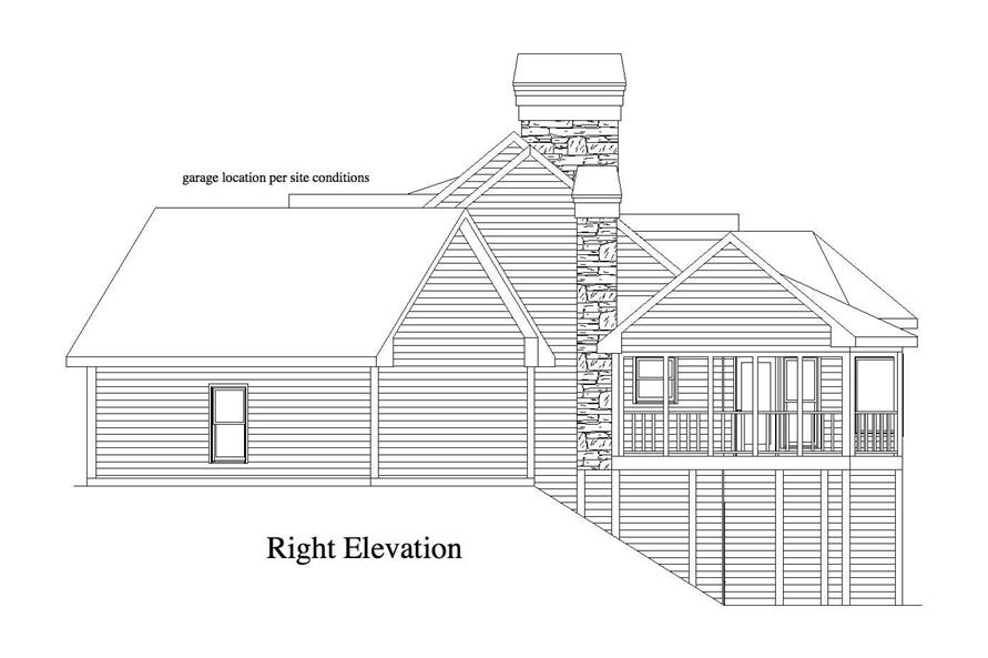 Home Plan Right Elevation of this 4-Bedroom,3231 Sq Ft Plan -163-1048