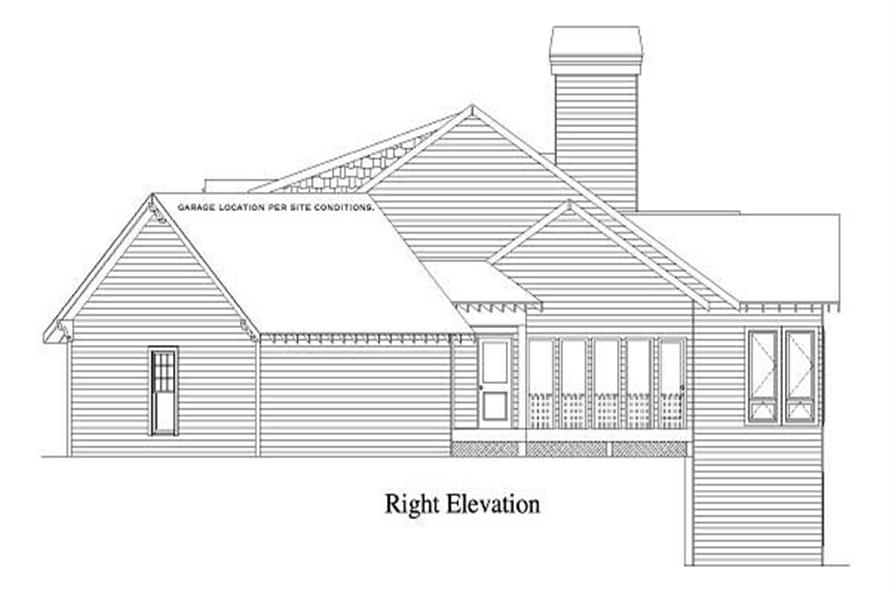 Home Plan Right Elevation of this 4-Bedroom,3332 Sq Ft Plan -163-1050