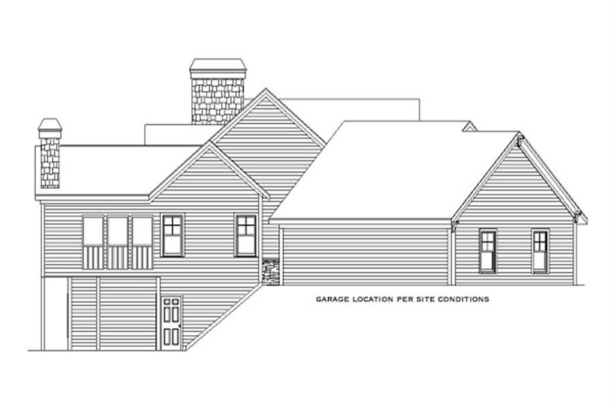 Home Plan Left Elevation of this 5-Bedroom,4225 Sq Ft Plan -163-1052