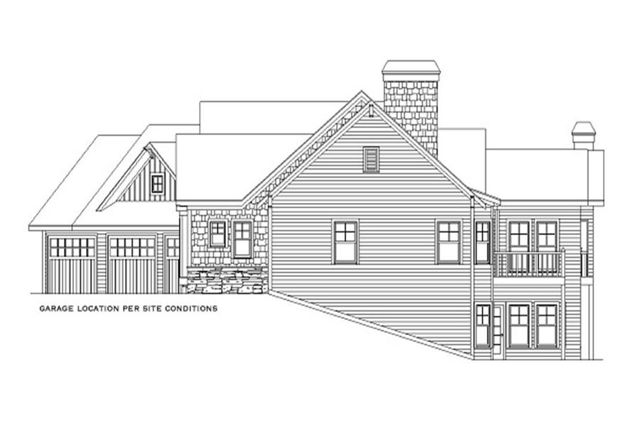 Home Plan Right Elevation of this 5-Bedroom,4225 Sq Ft Plan -163-1052
