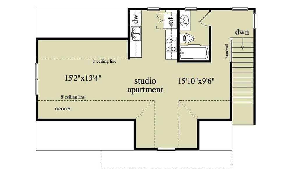 163-1052 Garage plan loft