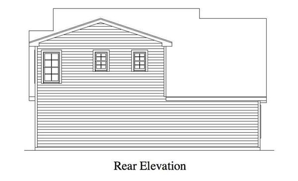 163-1052 Garage rear elevation