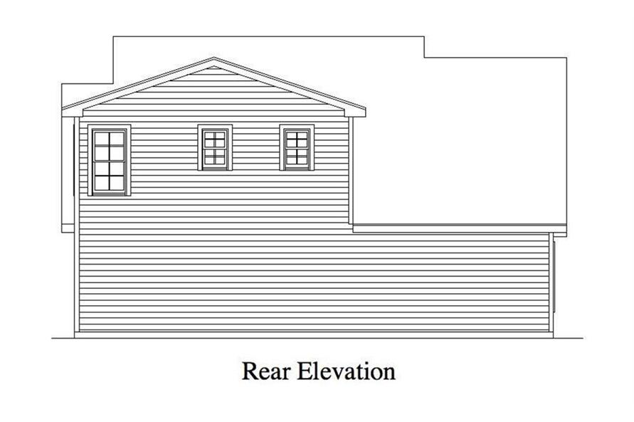 Garage Rear Elevation of this 5-Bedroom,4225 Sq Ft Plan -163-1052