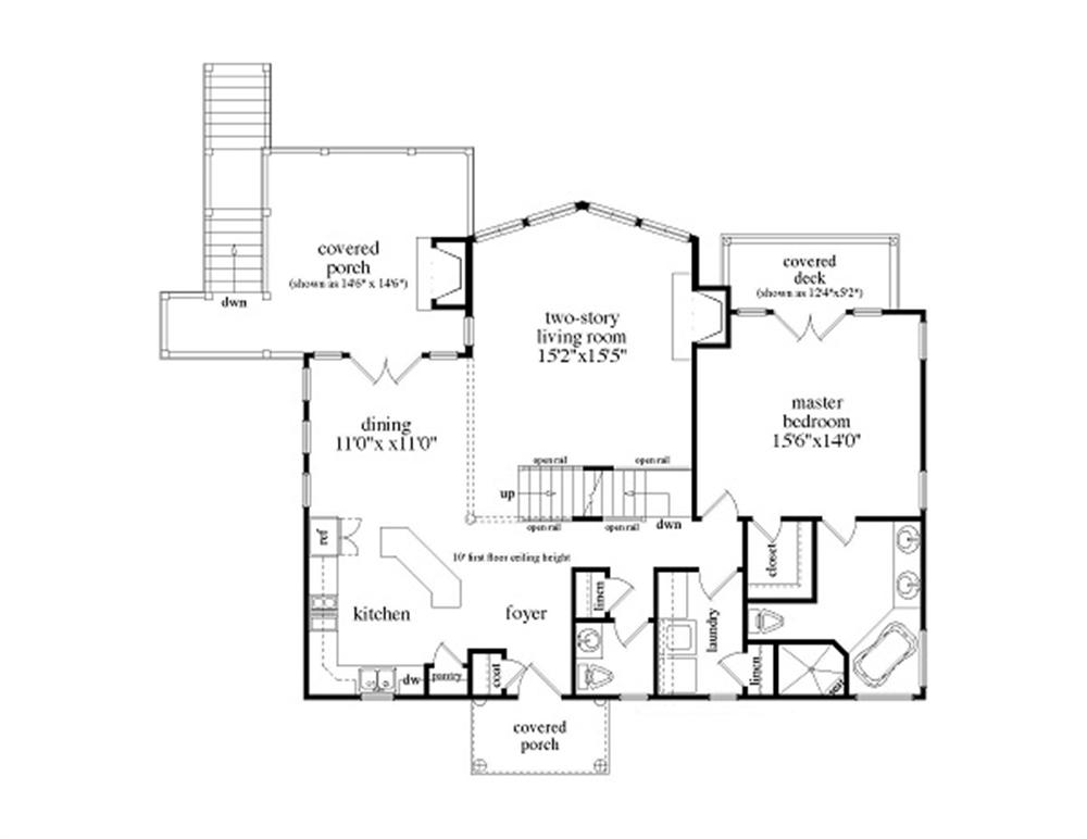 163-1053 house plan main level
