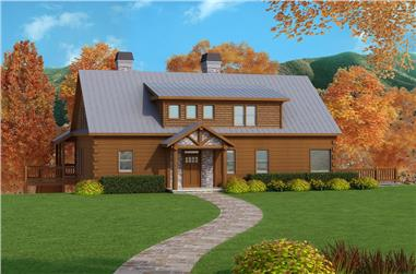 3-Bedroom, 1918 Sq Ft Country House Plan - 163-1053 - Front Exterior