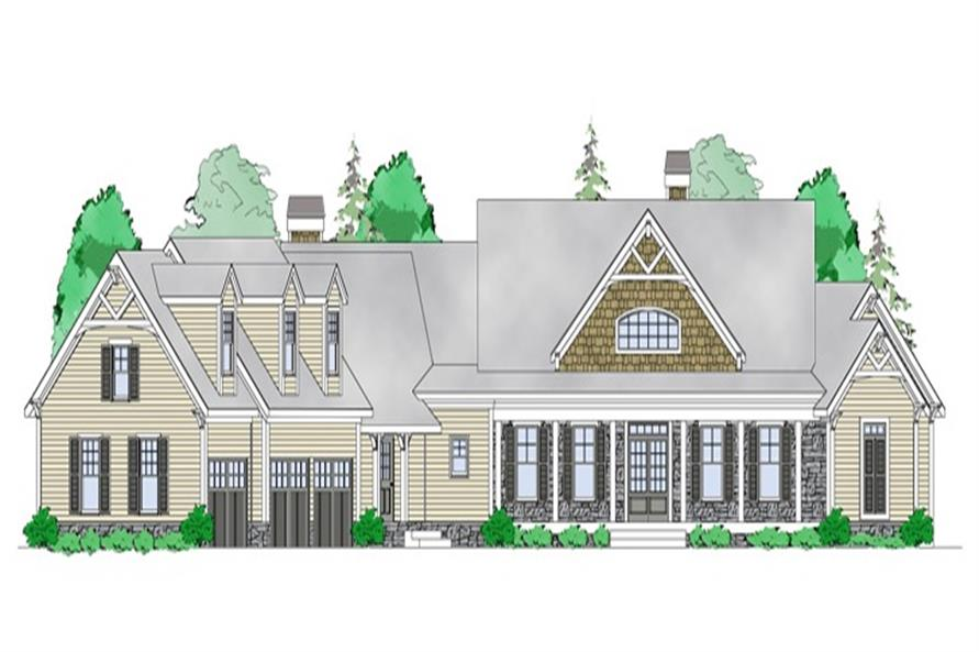 Home Plan Front Elevation of this 4-Bedroom,3763 Sq Ft Plan -163-1054