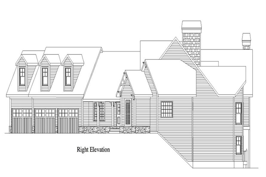 163-1054: Home Plan Right Elevation