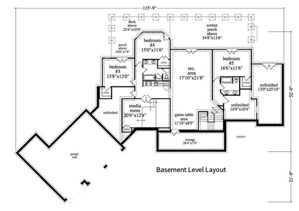 163-1055: Floor Plan Basement
