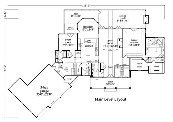 163-1055: Floor Plan Main Level