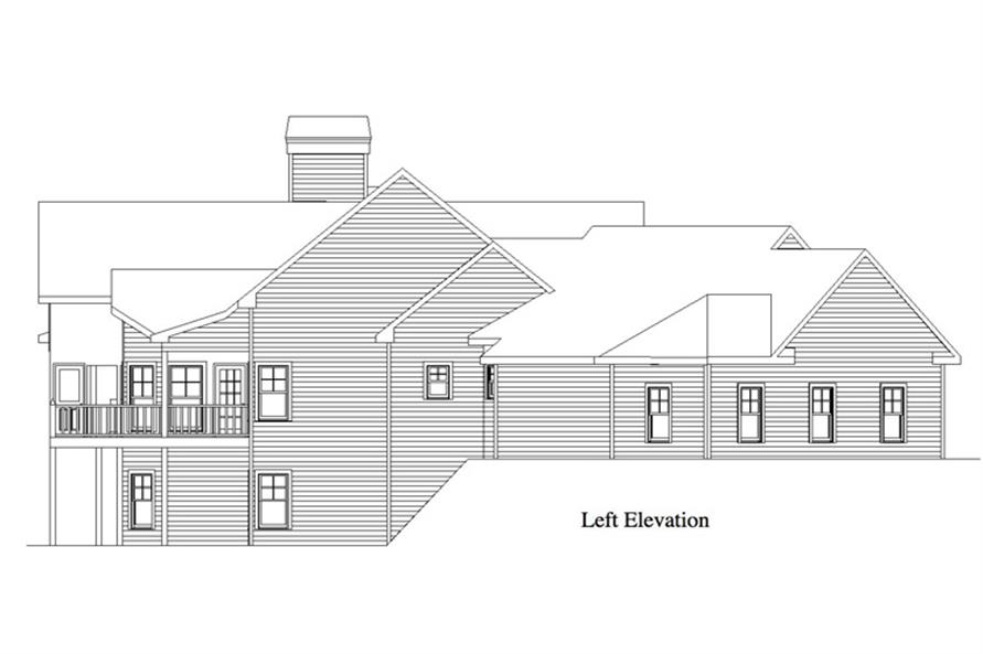 Home Plan Left Elevation of this 5-Bedroom,2618 Sq Ft Plan -163-1055
