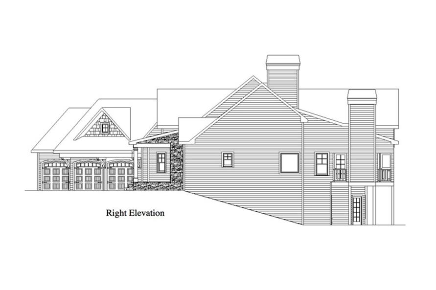 Home Plan Right Elevation of this 5-Bedroom,2618 Sq Ft Plan -163-1055