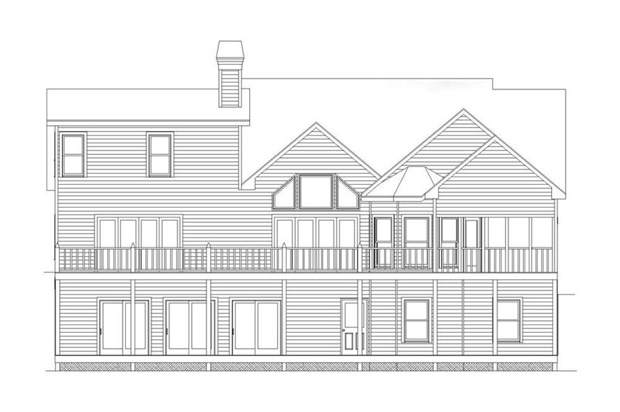 163-1056: Home Plan Rear Elevation