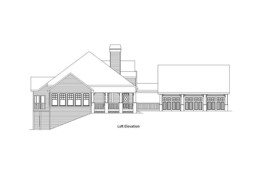 163-1057: Home Plan Left Elevation