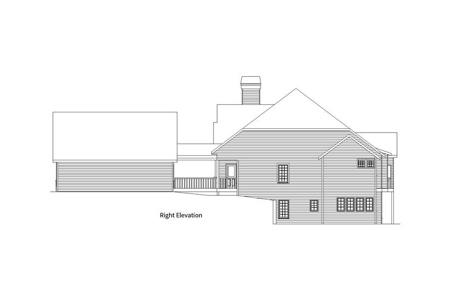 163-1057: Home Plan Right Elevation
