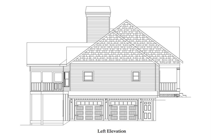 163-1058: Home Plan Left Elevation