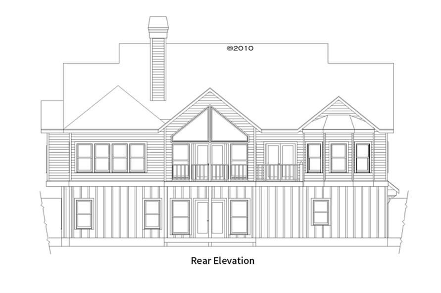 163-1058: Home Plan Rear Elevation