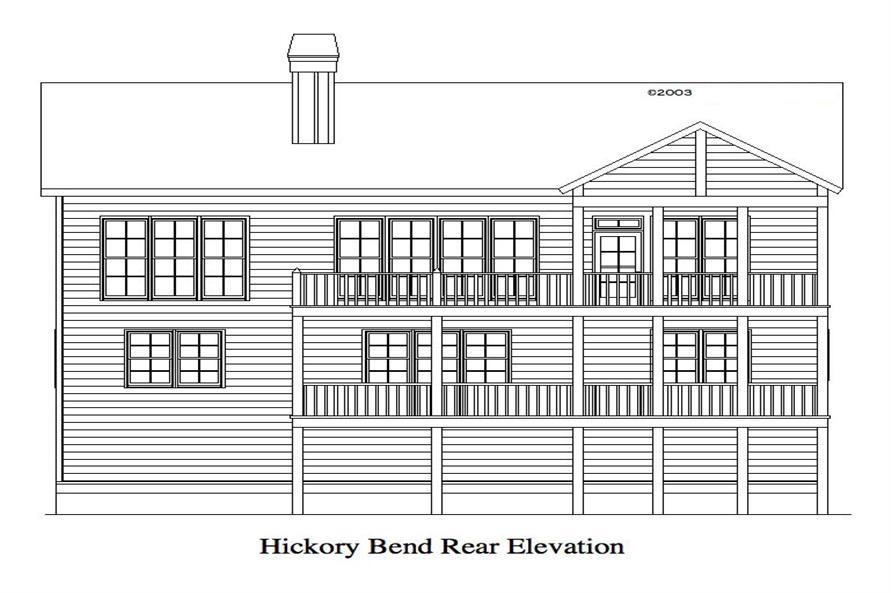 163-1060: Home Plan Rear Elevation