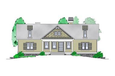 1-Bedroom, 1228 Sq Ft Craftsman Home Plan - 163-1060 - Main Exterior