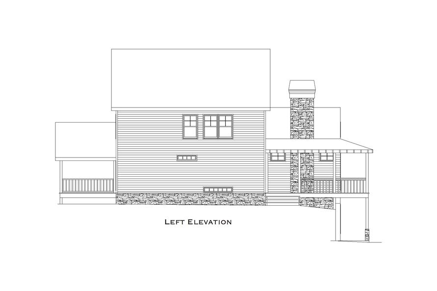 163-1061: Home Plan Front Elevation